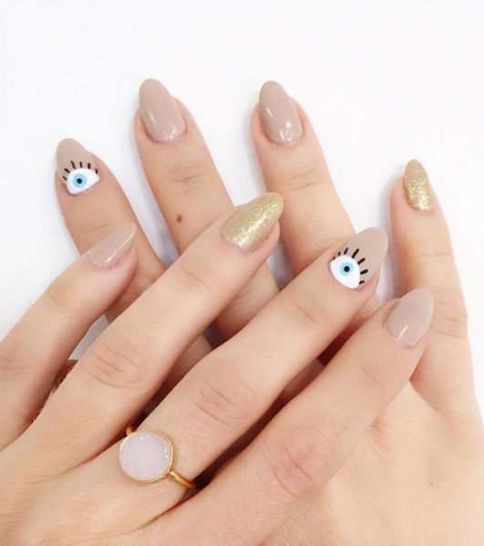 17 nude color nail designs to try ideas for nude nail art prinsesfo Choice Image