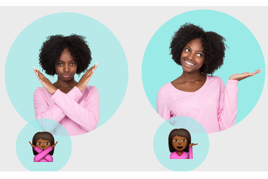 If you're not up for even that level of effort, just find a pink shirt. Then strike a few familiar emoji girl poses every time someone asks what you are. Bonus points if you bring a pair of scissors to recreate this favorite.