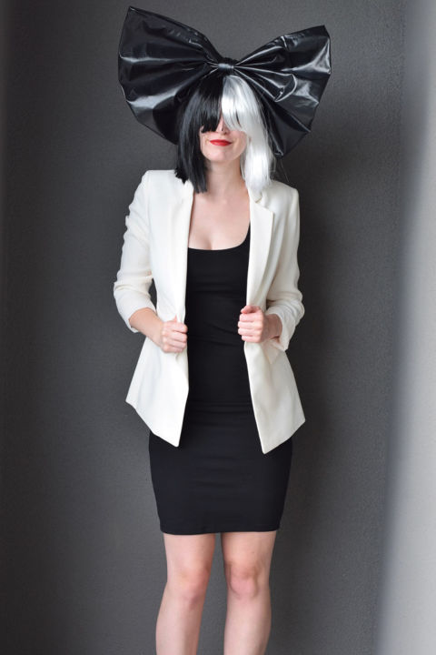 Here's a cheap thrill: The only thing you need to buy for this Sia costume is her signature two-toned wig. You can get it on Amazon for less than $10, then wear whatever black and white ensemble you have at home. Bonus points if you get a friend to dress up as Maddie Ziegler. 