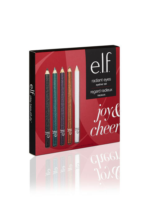 ($5, elfcosmetics.com) You get five colored eyeliners plus a sharpener for less than your morning coffee in this kit. Perfect for mastering glittery holiday makeup looks, like this year's mega-popular candy cane eyeliner.