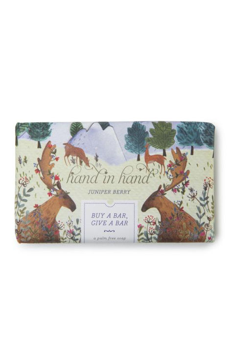 ($6, target.com) For each sudsy bar sold, Hand in Hand donates one, plus a month's worth of clean water, to a child in need. Comes in three different holiday scents, like Juniper Berry and Winter Woods.