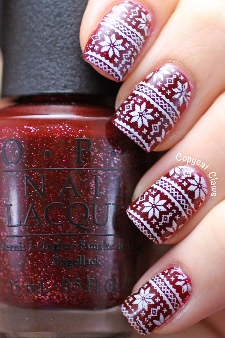 32 festive christmas nail art ideas easy designs for holiday nails prinsesfo Images