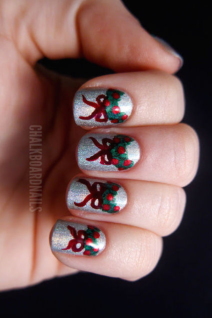 - 32 Festive Christmas Nail Art Ideas - Easy Designs For Holiday Nails