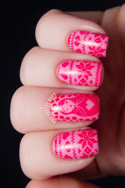 Warm and Fuzzy - 30 Festive Christmas Nail Art Ideas - Easy Designs For Holiday Nails