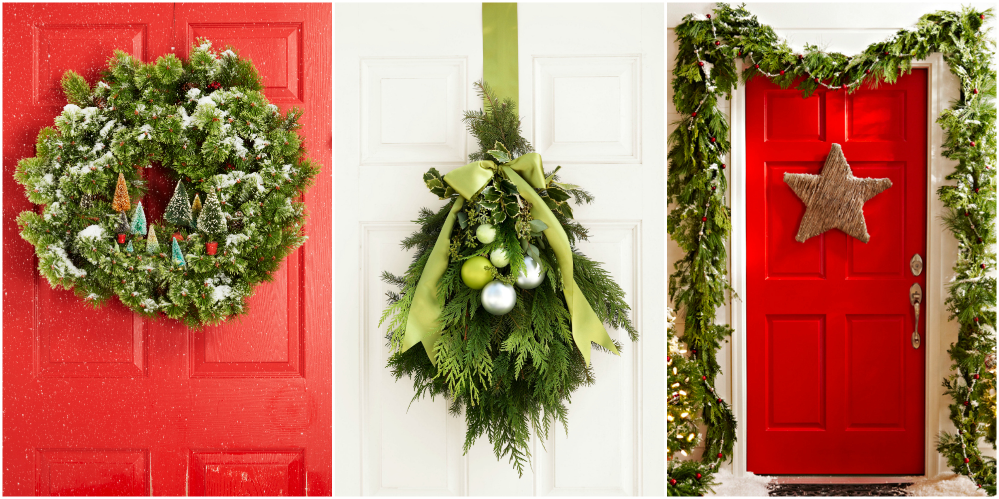 30 christmas door decorating ideas best decorations for for Door decoration xmas
