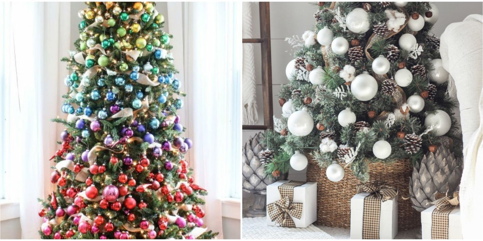 35 unique christmas tree decorations 2017 ideas for for Christmas tree lights decorating ideas
