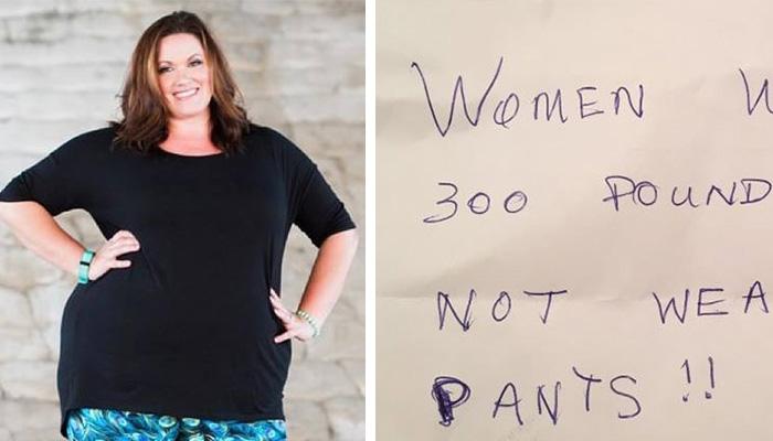 woman fat shamed for wearing leggings mom fat shamed