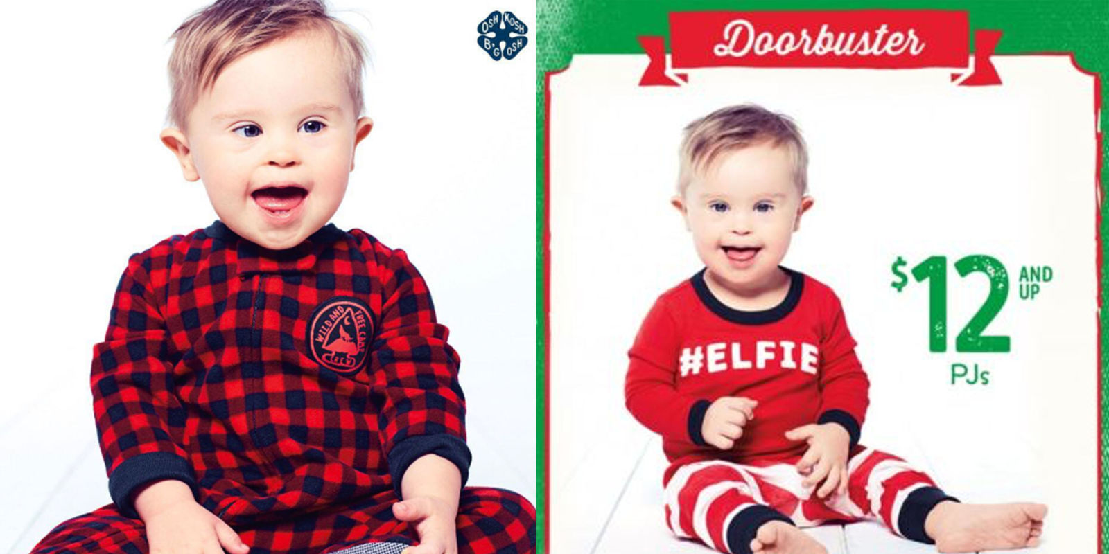 Baby Model With Down Syndrome Stars In Oshkosh Holiday Ad Asher Nash Scores First Modeling Gig