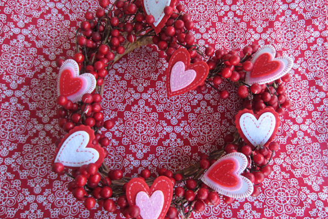 30 DIY Valentineu0027s Day Wreaths   Homemade Door Decorations For Valentineu0027s  Day