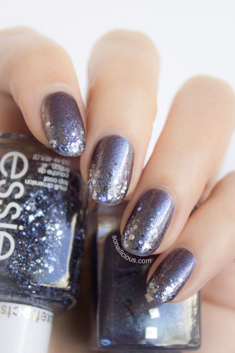 Love have you seeing stars? Channel that celestial feeling through this space-inspired manicure using Essie&amp;nbsp;Luxeffects Topcoat Nail Color in&amp;nbsp;Stroke of Brilliance ($9, dermstore.com).</p><p>See more at So Nailicious »</p><p>