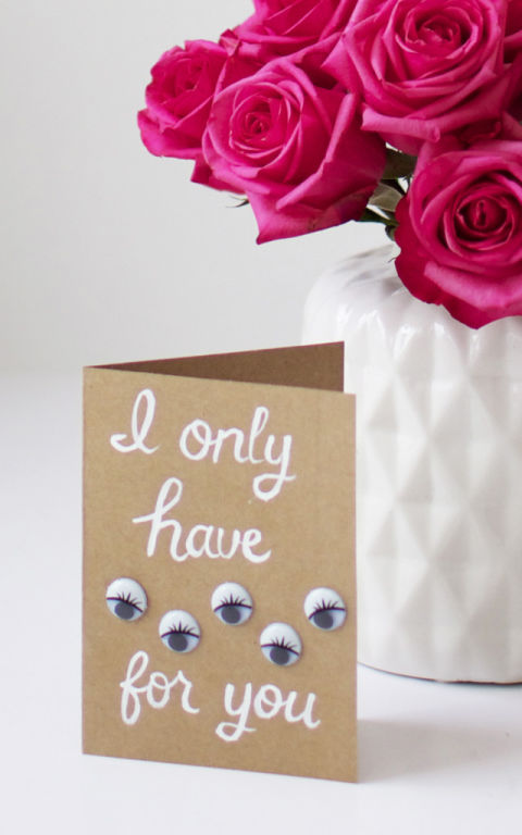 i only have eyes for you a simple brown paper card