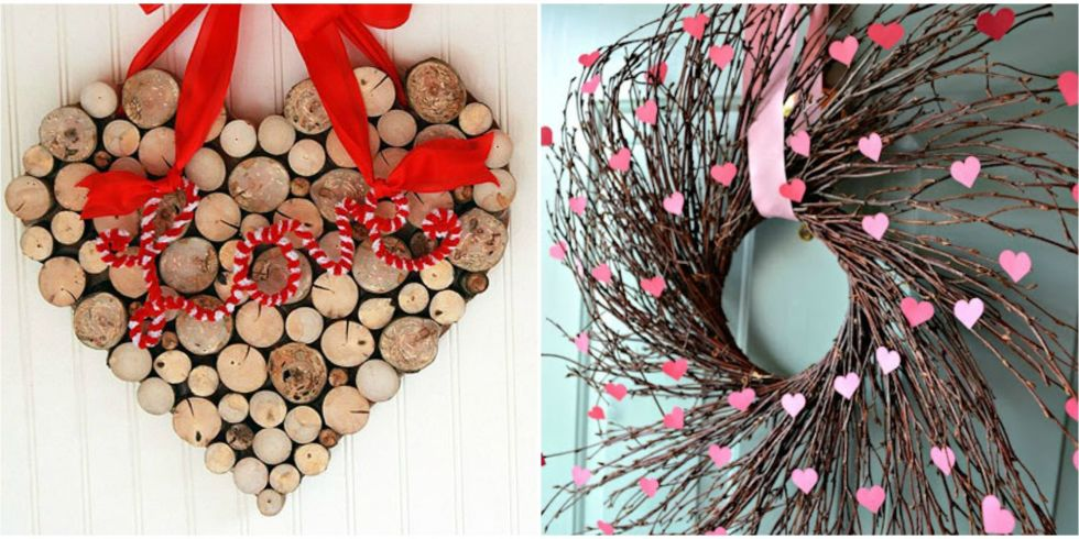 25 diy valentines day wreaths homemade door decorations for valentines day - Homemade Decorations