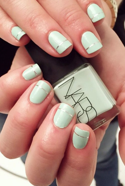 Simple, chic, and totally office-appropriate, this minty green mani is perfect for rocking on Easter — and wearing to work all spring long. See more on Steph Stone's Instagram »