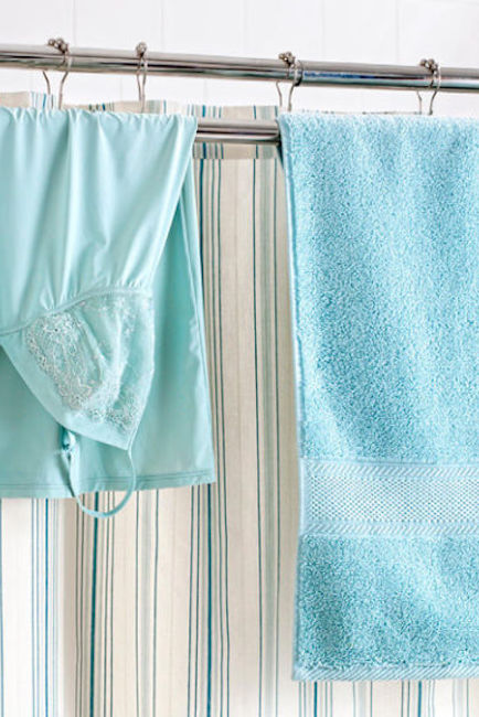 Make Your Shower Rod Do Double Duty.
