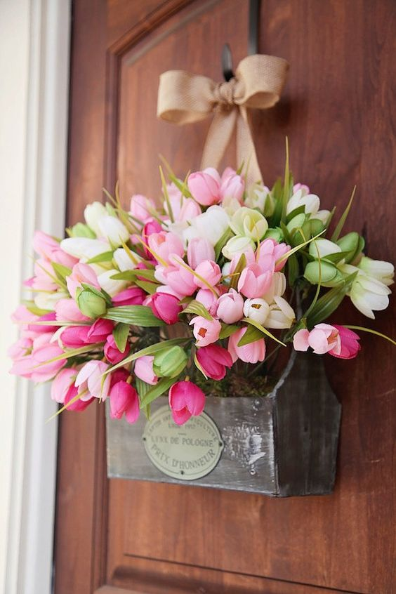 spring wreath for front door30 DIY Easter Wreaths  Ideas for Easter Door Decorations to Make