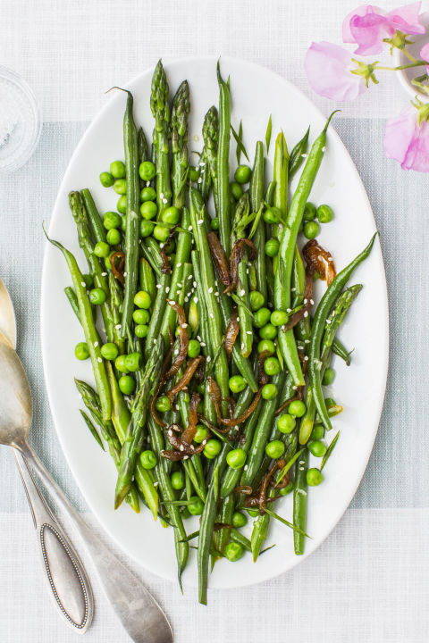 If you're looking to liven up your Christmas dinner, try these tangy greens. 