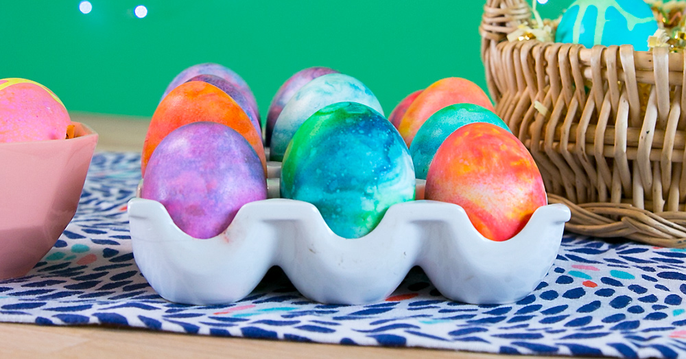 How to Make Marbled Eggs with Shaving Cream  Easter Crafts