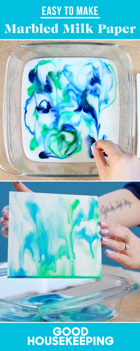 Raid Your Kitchen to Make Colorful Marbled Milk Paper