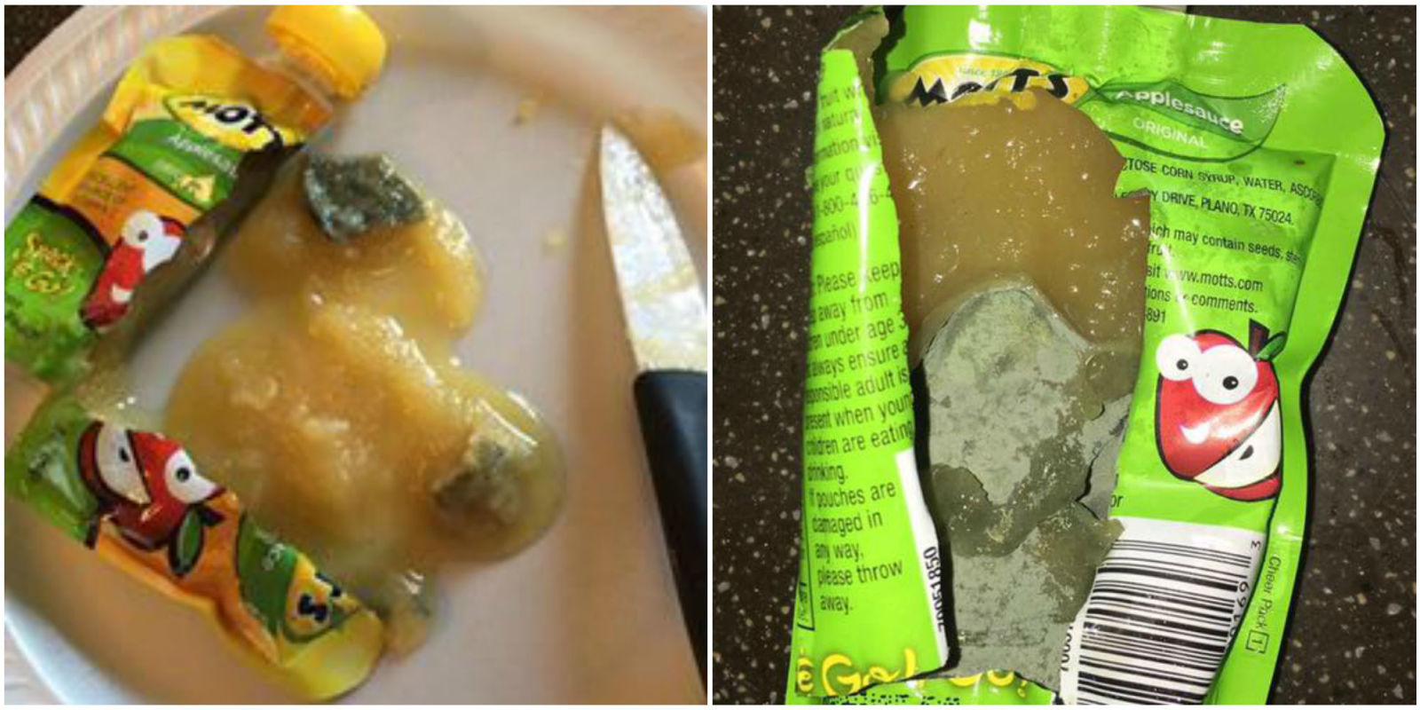 Mom Finds Mold In Motts Applesauce Photos Of Green Gunk