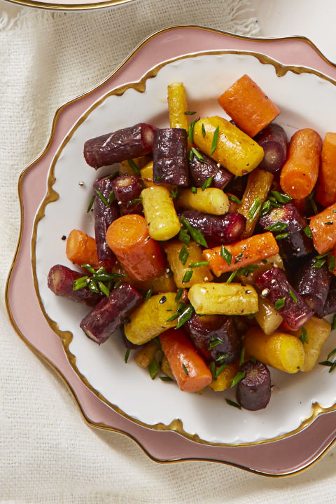 These colorful carrots are almost too beautiful to eat. 