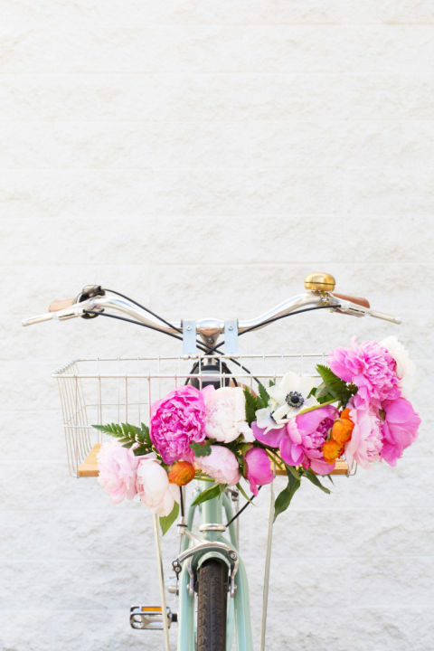 Get the family moving with a group bike ride — but make sure everyone around town knows it's her day by adding fresh flowers to her basket or handlebars.  Get the tutorial from Lovely Indeed »