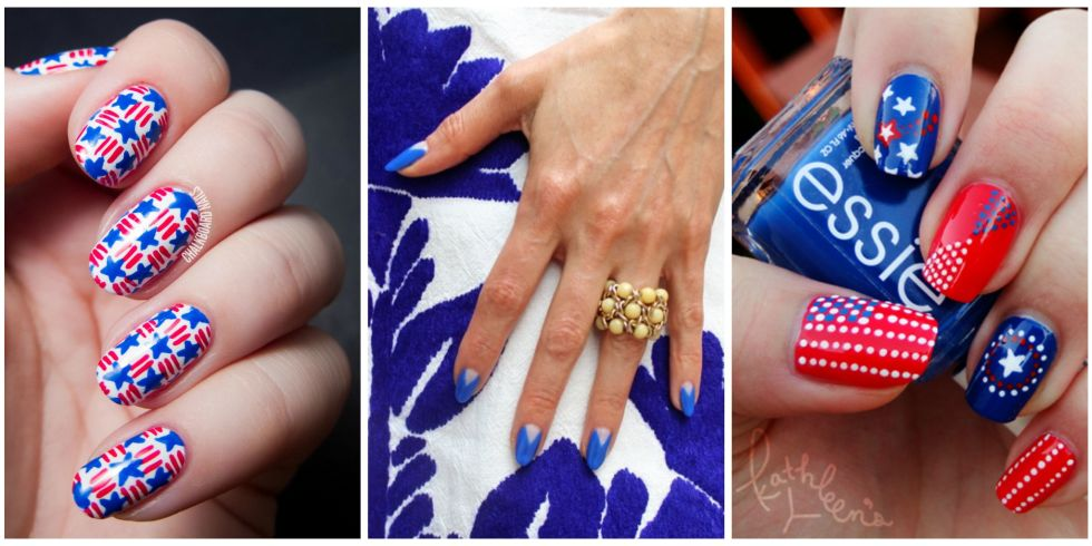10 best 4th of july nail art designs cool ideas for patriotic 20 photos prinsesfo Choice Image