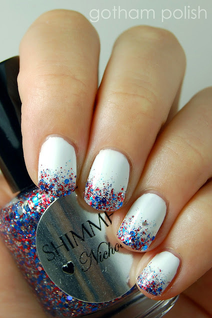 Fire Cracker Tips - 10 Best 4th Of July Nail Art Designs - Cool Ideas For Patriotic