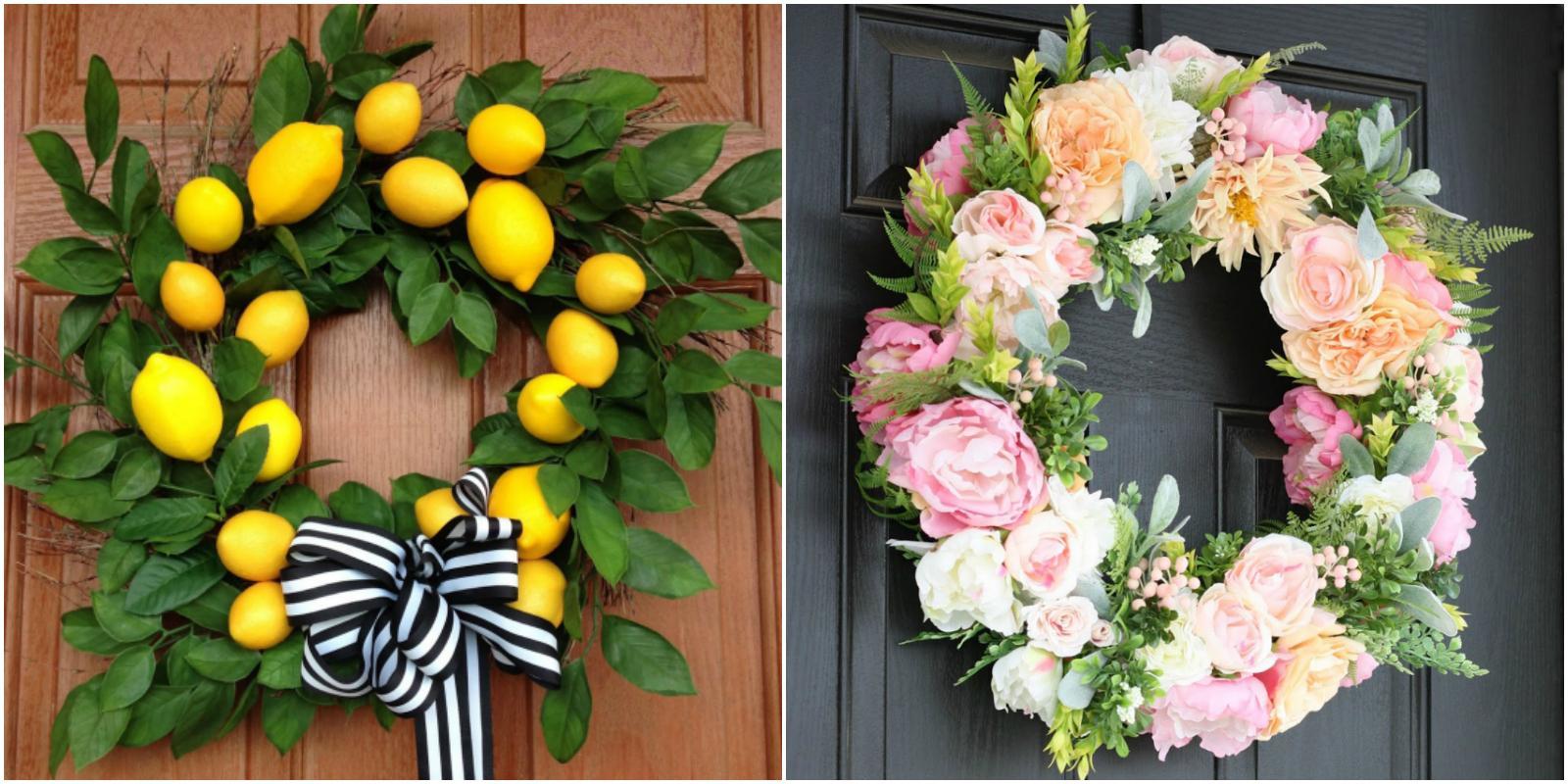 20 diy summer wreaths outdoor door wreath ideas for summer for Diy summer wreath