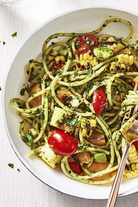 34 best zucchini recipes easy vegetarian zucchini dinners pesto pasta forumfinder Choice Image