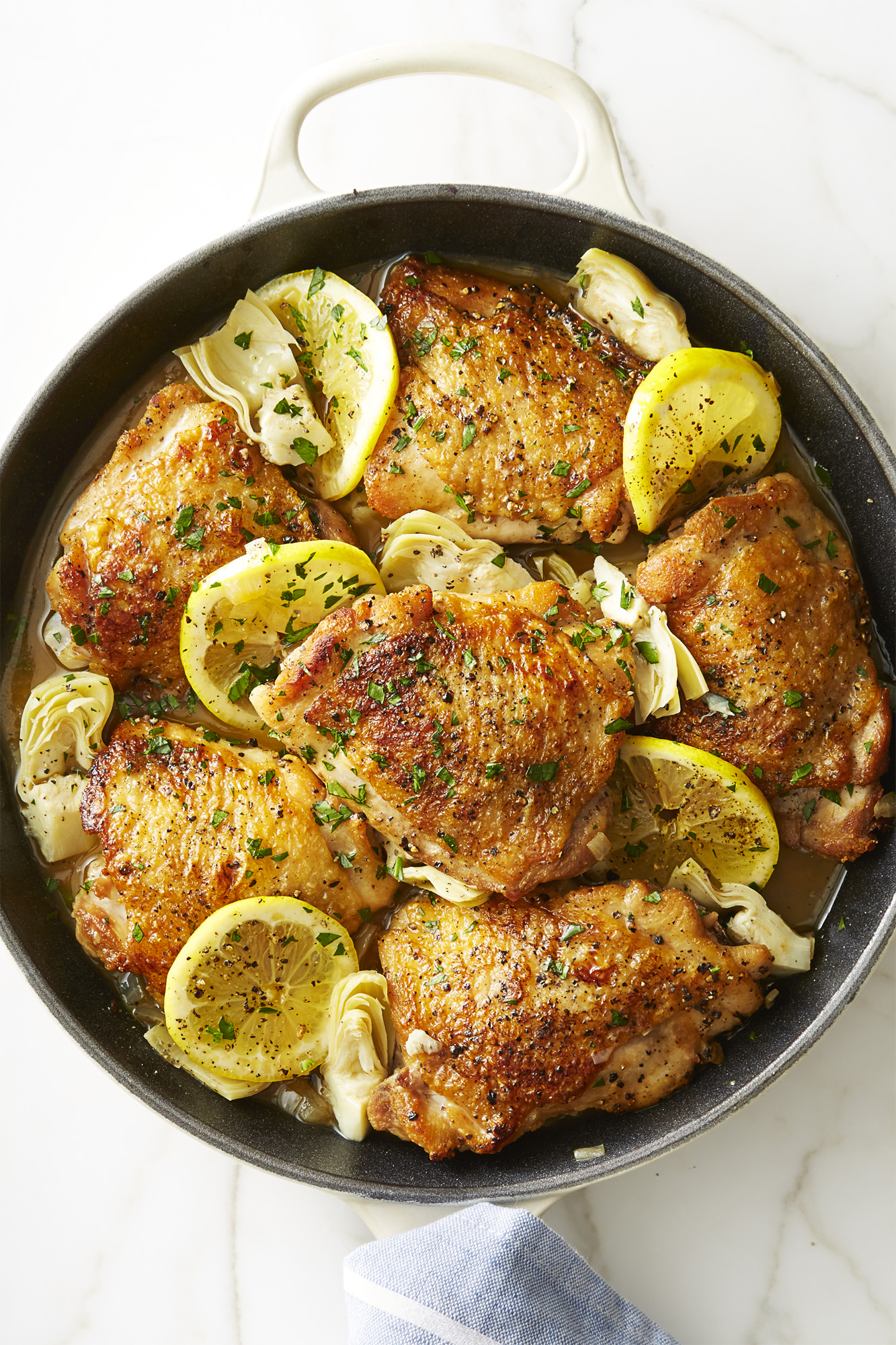 Best Skillet Lemon Chicken With Artichokes Recipe