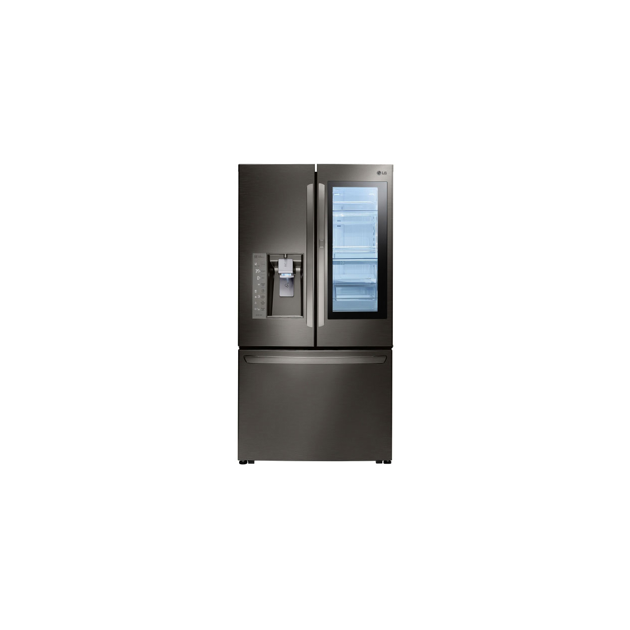 Ge profile series energy star 278 cu ft lg instaview door in ge profile series energy star 278 cu ft lg instaview door in door refrigerator lfxc24796d review price and features pros and cons of lg instaview rubansaba