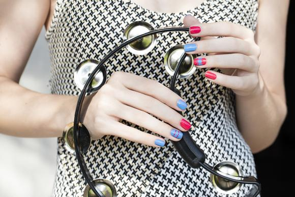 This mani may look complicated, but it just takes a little patience and a steady hand — or at least a bit of striping tape. Swap the colors for other shades throughout the summer to match all your favorite outfits and special occasions. See more at OPI »