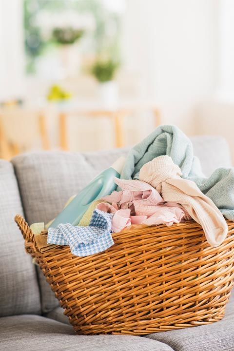 We know, it's most people's least favorite chore ever. But to prevent piles of items you've deemed dirty (here's our helpful guide) from growing into an intimidating tower, it's best to tackle this weekly.