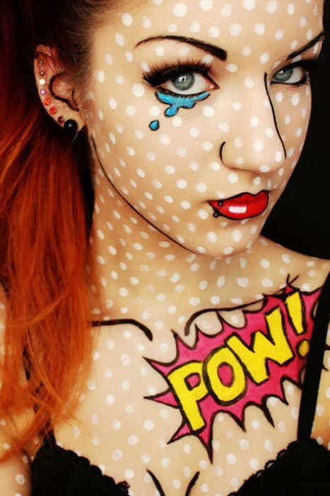 With this cool costume makeup, you can pretty much wear whatever you want and still look incredibly put together.