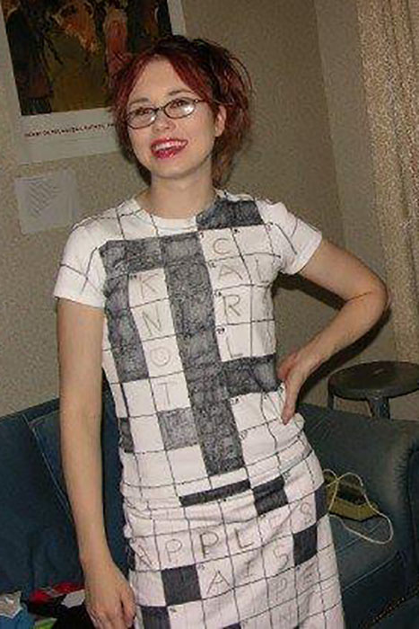 Whether you copy last Sunday's puzzle or come up with your own (impressive!), this costume is as clever as it is easy to create.