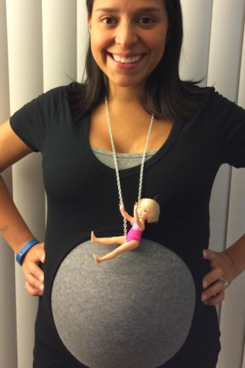 wrecking ball pregnant halloween costume - Pregnant Halloween Couples Costumes