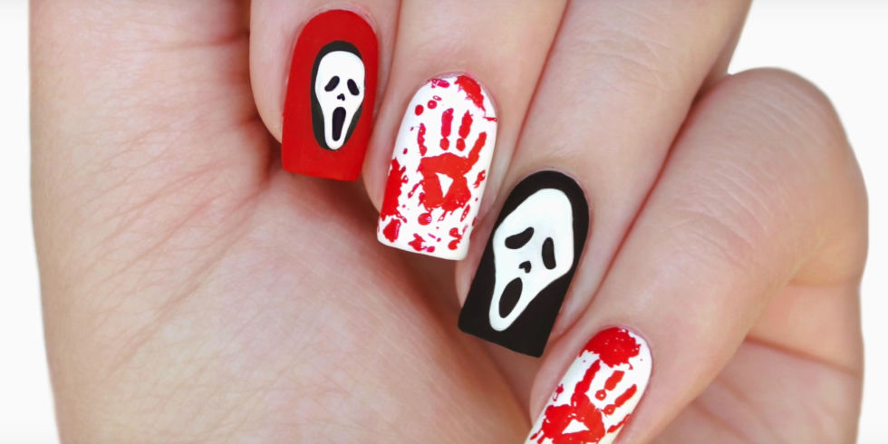 view gallery - Halloween Easy Nail Art