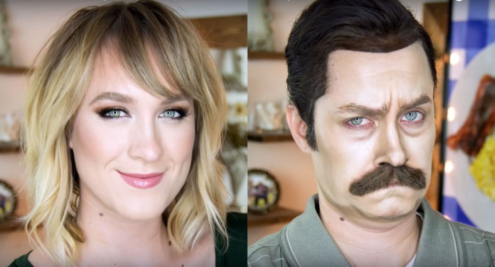 ron swanson - Halloween Costumes With Facial Hair