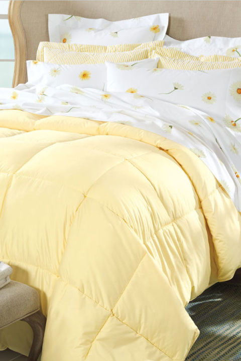 cuddledown 600 fill power sateen colored down comforter
