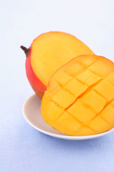 Mangoes are loaded with beta-carotene, which helps your skin repair itself, stay smoothand evendelay the appearance of wrinkles.And — yes, there's more! — they're packed with vitamin A, which protects cells and helps them regenerate. When they're out of season, you can get the same effects from winter squash and sweet potatoes (both SuperCarbs!), as well as carrots, cantaloupeand apricots.