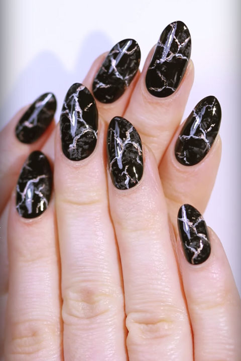 35 fall nail art ideas best nail designs and tutorials for fall 2017 black marble prinsesfo Image collections