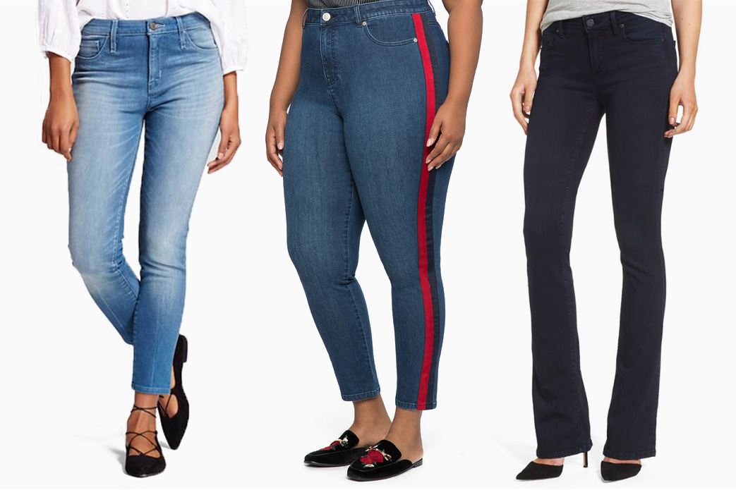 Jeans that fit at the waist