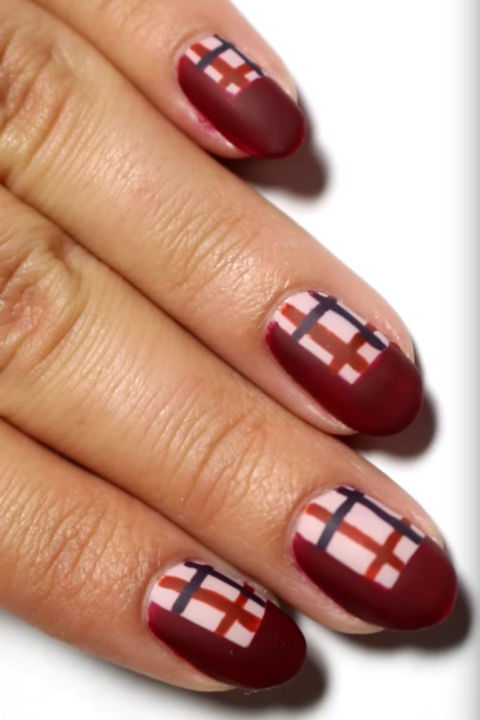 25 thanksgiving nail art designs ideas for november nails matte plaid prinsesfo Gallery