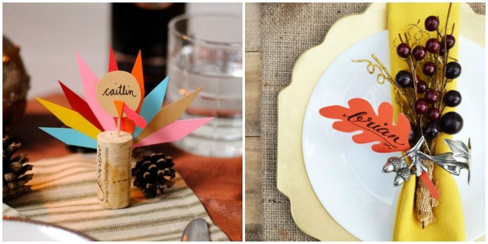15 Easy Diy Thanksgiving Place Cards Cute Ideas For