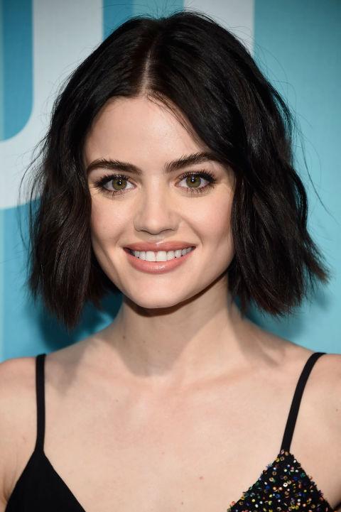 21 dark brown hair colors celebrities with dark brown hair lucy hale urmus Gallery