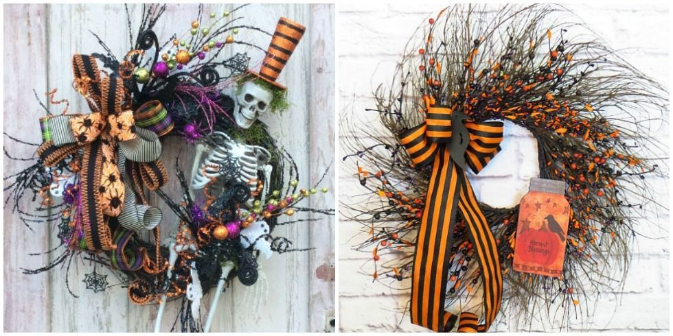 scary door design diy halloween wreath halloween decor ideas