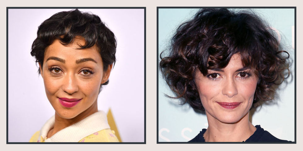 Short Curly Haircuts and trendy hair color