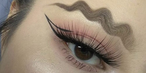 Image result for squiggly eyebrow