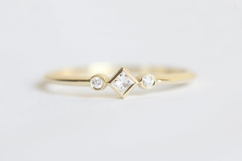 etsycapucinne - Small Wedding Rings