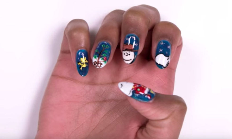 charlie brown christmas - Nail Polish Design Ideas